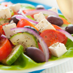 Greek salad dinner