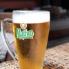 Big glass of Mythos beer